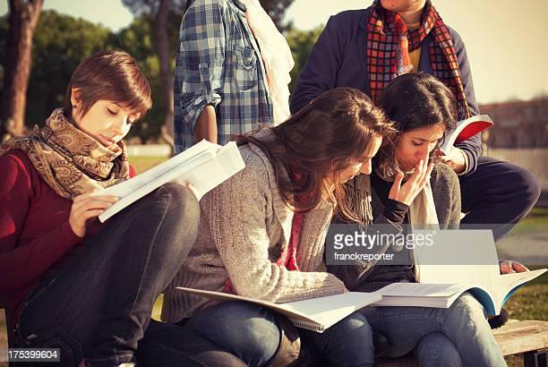 College-Studenten studieren in campus