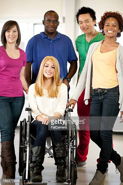 College student with wheelchair