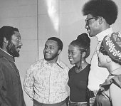 College students and writer and social activist Dick Gregory February 2 1973