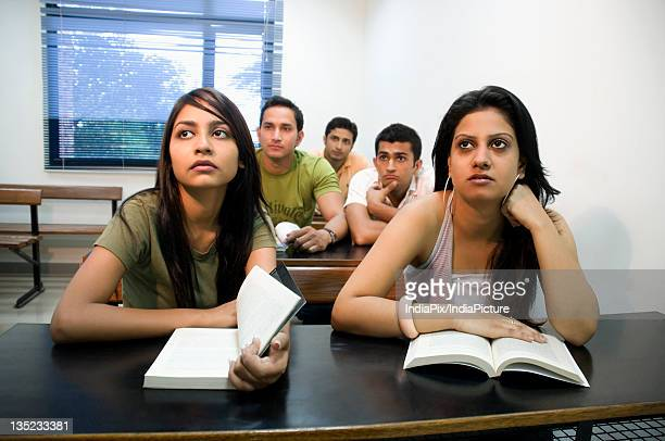 College students attending a class