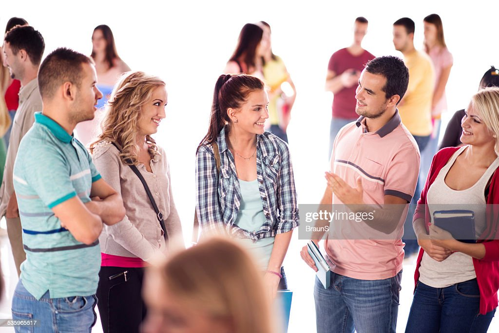 College students communicating. : Stock Photo