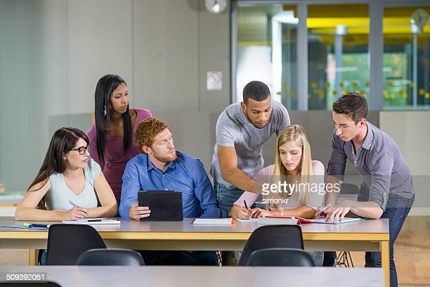 College Students Doing Research