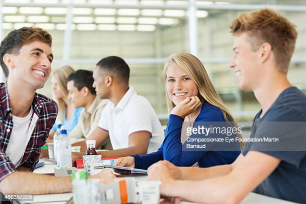 College students in cafeteria