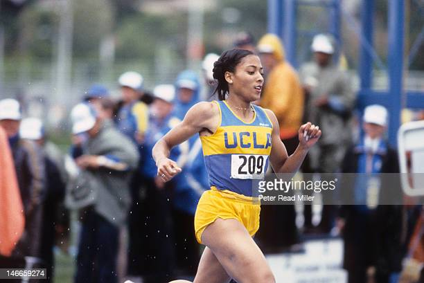 NCAA Championships UCLA Florence Griffith in action during Women's 200M race at Clarence F Robison Track Provo UT CREDIT Peter Read Miller