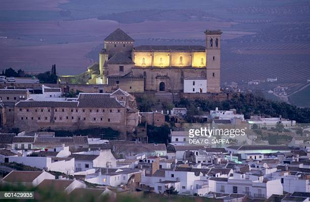 Collegiate church of Our Lady of the Assumption 15301539 at sunset Osuna Andalusia Spain 16th century