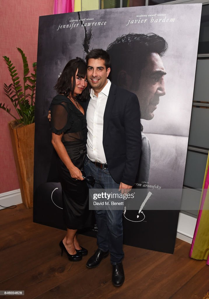 Collette Cooper and Dr Richard Marques attend a screening of 'mother!' hosted by Collette Cooper and Paramount Pictures in collaboration with Edible Cinema at The Soho Hotel on September 13, 2017 in London, England.