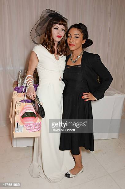 Collette Cooper and Kathryn Drysdale attend the 5th annual Rodial Beautiful Awards to celebrate women of style beauty and elegance at St Martins Lane...
