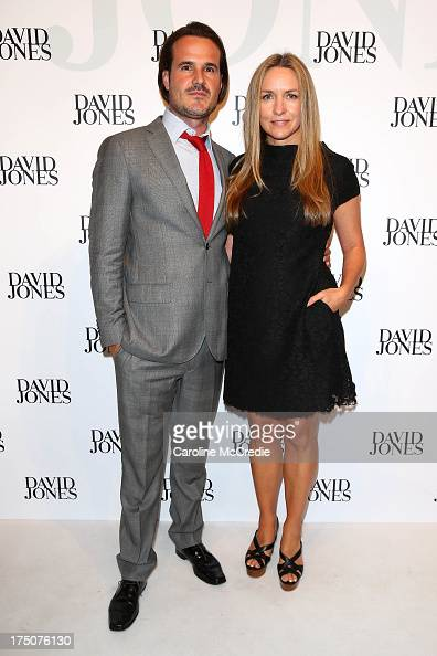 Collette Dinnigan and Bradley Cocks arrive at the David Jones Spring/Summer 2013 Collection Launch at David Jones Elizabeth Street on July 31 2013 in...