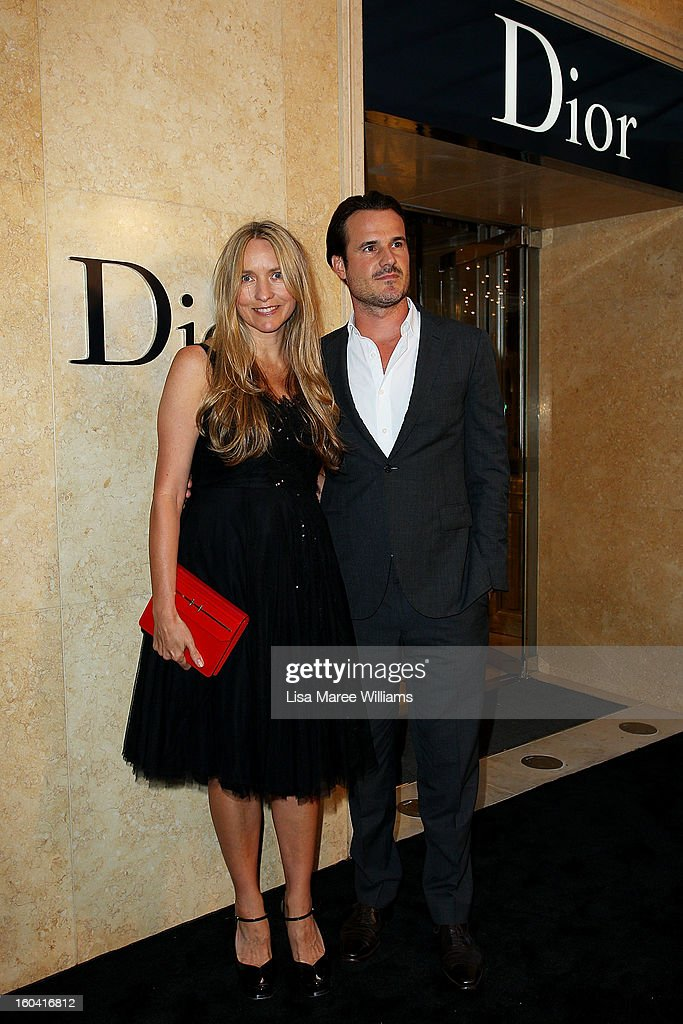 Collette Dinnigan and Bradley Cocks attends the opening of the Christan Dior Sydney store on January 31, 2013 in Sydney, Australia.
