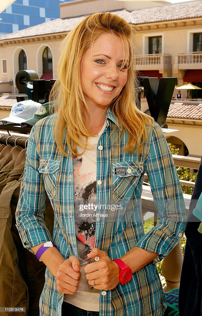 Collette Wolfe poses with Superdry at the Kari Feinstein MTV Movie Awards Style Lounge held at Montage Beverly Hills on June 4, 2010 in Beverly Hills, California.