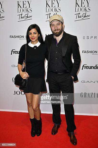 Collien UlmenFernandes and Christian Ulmen attend the 'Key Looks The Show' presented by Fashion ID show during the MercedesBenz Fashion Week Berlin...