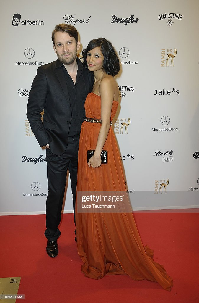 Collien Ulmen-Fernandez and Christian Ulmen attend 'BAMBI Awards 2012' at the Stadthalle Duesseldorf on November 22, 2012 in Duesseldorf, Germany.
