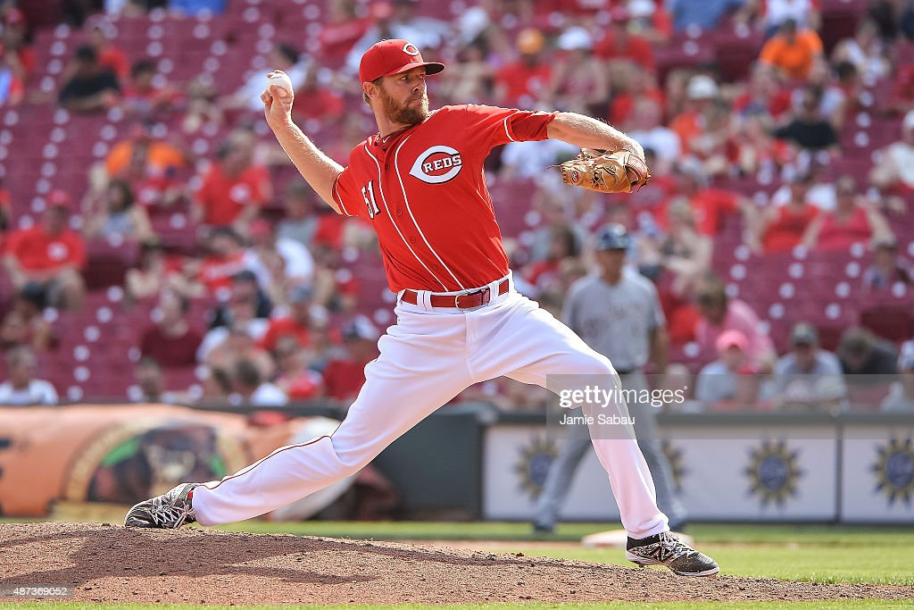 <a gi-track='captionPersonalityLinkClicked' href=/galleries/search?phrase=Collin+Balester&family=editorial&specificpeople=4424735 ng-click='$event.stopPropagation()'>Collin Balester</a> #51 of the Cincinnati Reds pitches against the Milwaukee Brewers at Great American Ball Park on September 5, 2015 in Cincinnati, Ohio.