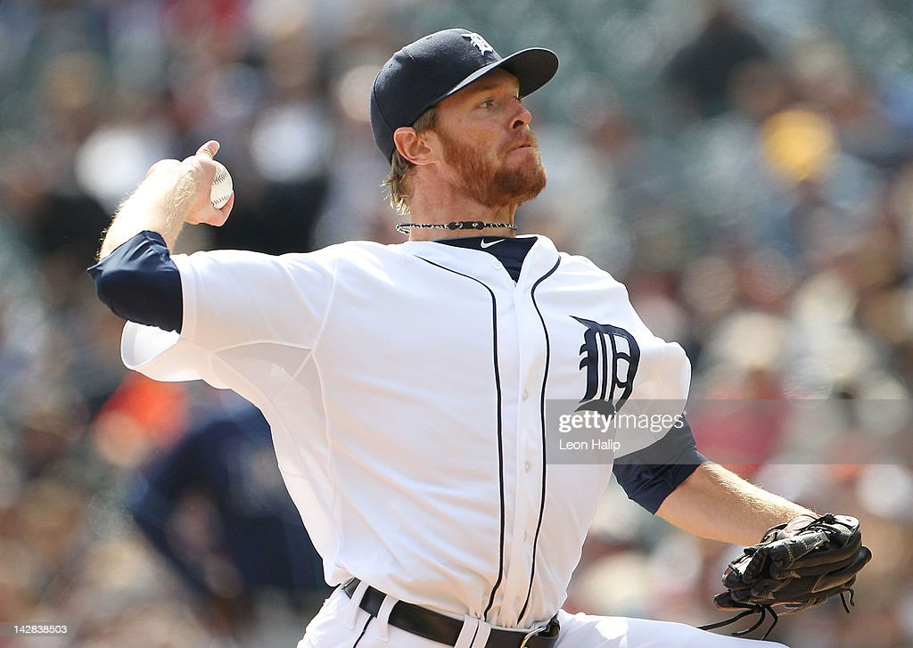 <a gi-track='captionPersonalityLinkClicked' href=/galleries/search?phrase=Collin+Balester&family=editorial&specificpeople=4424735 ng-click='$event.stopPropagation()'>Collin Balester</a> #31 of the Detroit Tigers pitches during the game against the Tampa Bay Rays at Comerica Park on April 12, 2012 in Detroit, Michigan.The Tigers defeated the Rays 7-2.