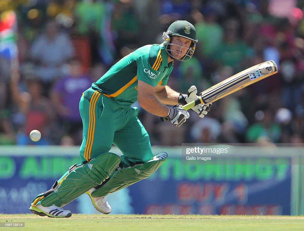 Collin Ingram from the Proteas during the 1st One Day International match between South Africa and New Zealand at Boland Park on January 19 2013 in...