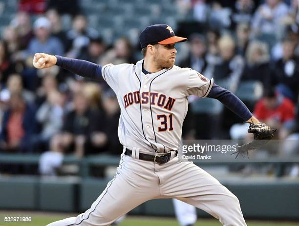 Collin McHugh of the Houston Astros pitches against the Chicago White Sox during the first inning on May 19 2016 at U S Cellular Field in Chicago...