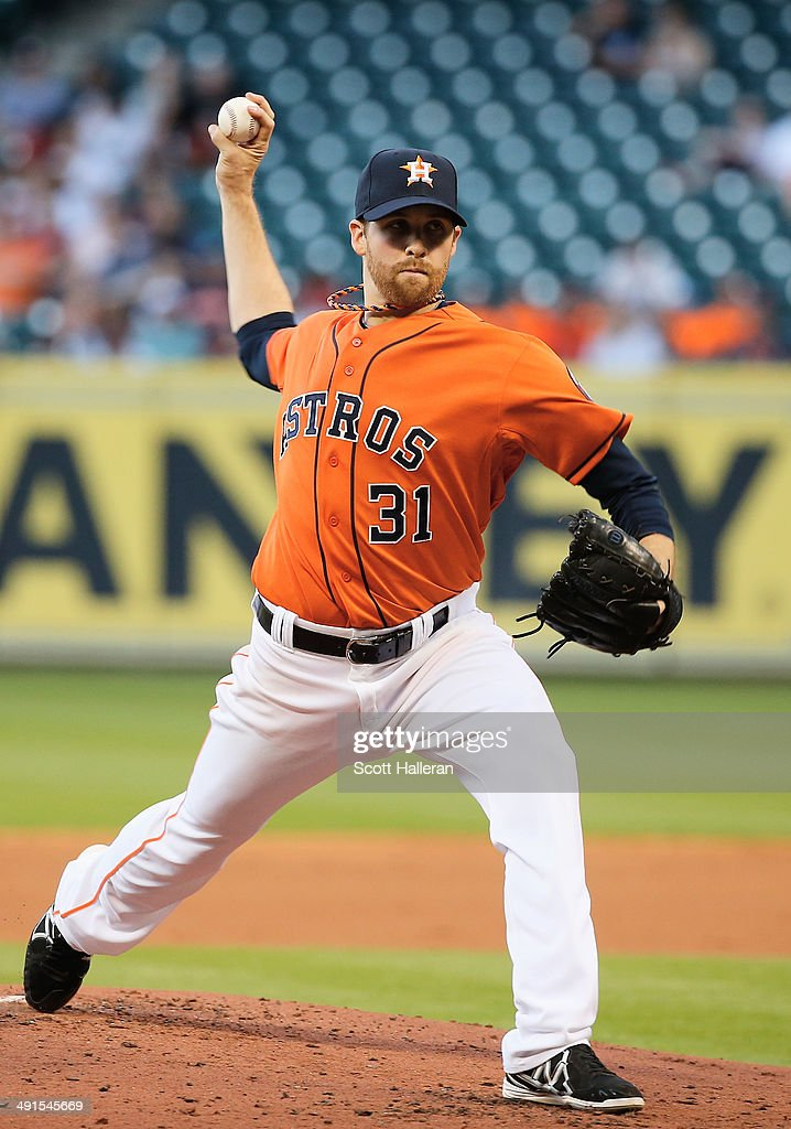 Collin McHugh #31 of the Houston Astros throws a pitch in the second inning of their game against the Chicago White Sox at Minute Maid Park on May 16, 2014 in Houston, Texas.