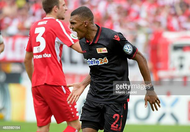 Collin Quaner of 1 FC Union Berlin during the match between FC Viktoria Koeln and Union Berlin on August 8 2015 in Cologne Germany