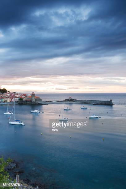 Collioure bay - famous historic village in south of France (Cote Vermeille, France)