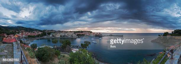 Collioure panorama - famous historic village in south of France (Languedoc-Roussillon)