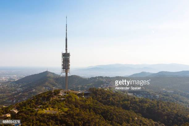 Collserola Mountain and Communications Tower in Barcelona, Catalonia, Spain