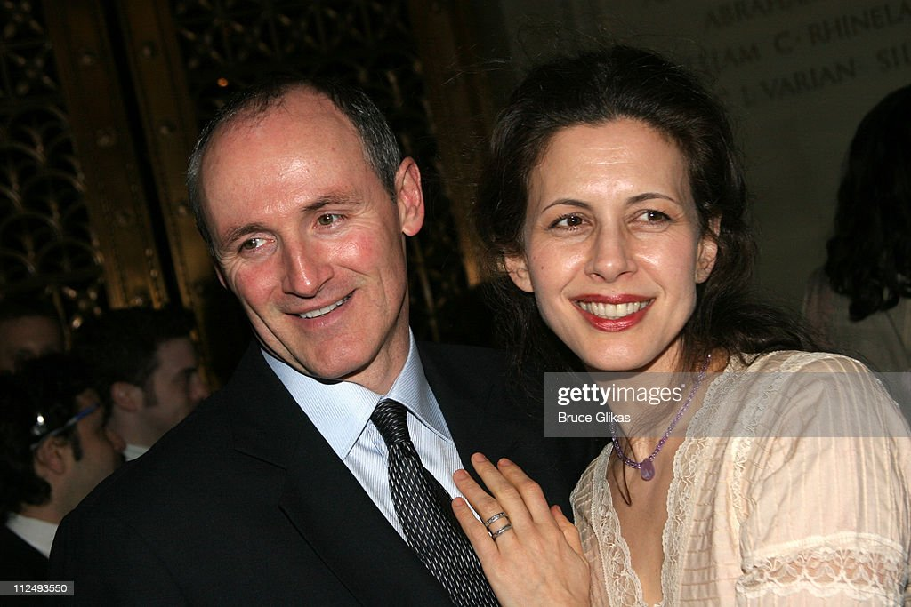 Colm Feore and Jessica Hecht during Opening Night Party for 'Julius Caesar' on Broadway at Gotham Hall in New York City New York United States