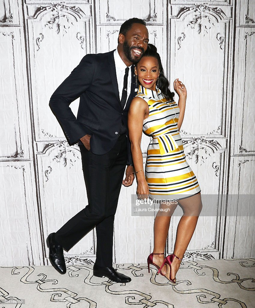 Colman Domingo and Anika Noni Rose attends AOL Build Speaker Series to discuss 'Roots' at AOL Studios In New York on May 25 2016 in New York City