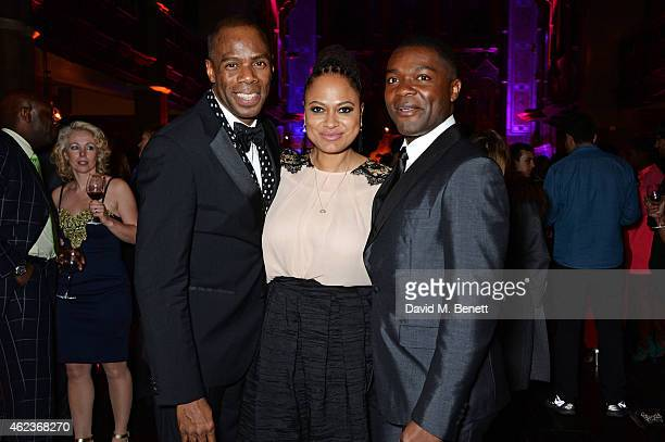 Colman Domingo director Ava DuVernay and David Oyelowo attend the European Premiere of 'Selma' at One Mayfair on January 27 2015 in London England