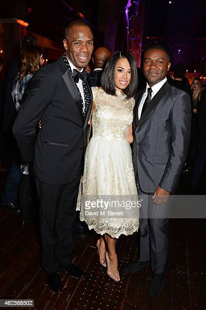 Colman Domingo Jade Ewen and David Oyelowo attend the European Premiere of 'Selma' at One Mayfair on January 27 2015 in London England
