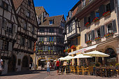 Colmar Halftimbered Houses Old Town Alsace Wine Route Alsace Wine Route HautRhin France Europe