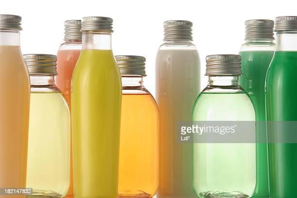 Coloful soap bottles