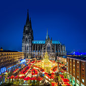 The old catholic Cathedral in the city of Cologne (Germany)