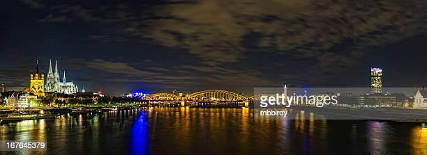 Cologne city XXXL panorama by night