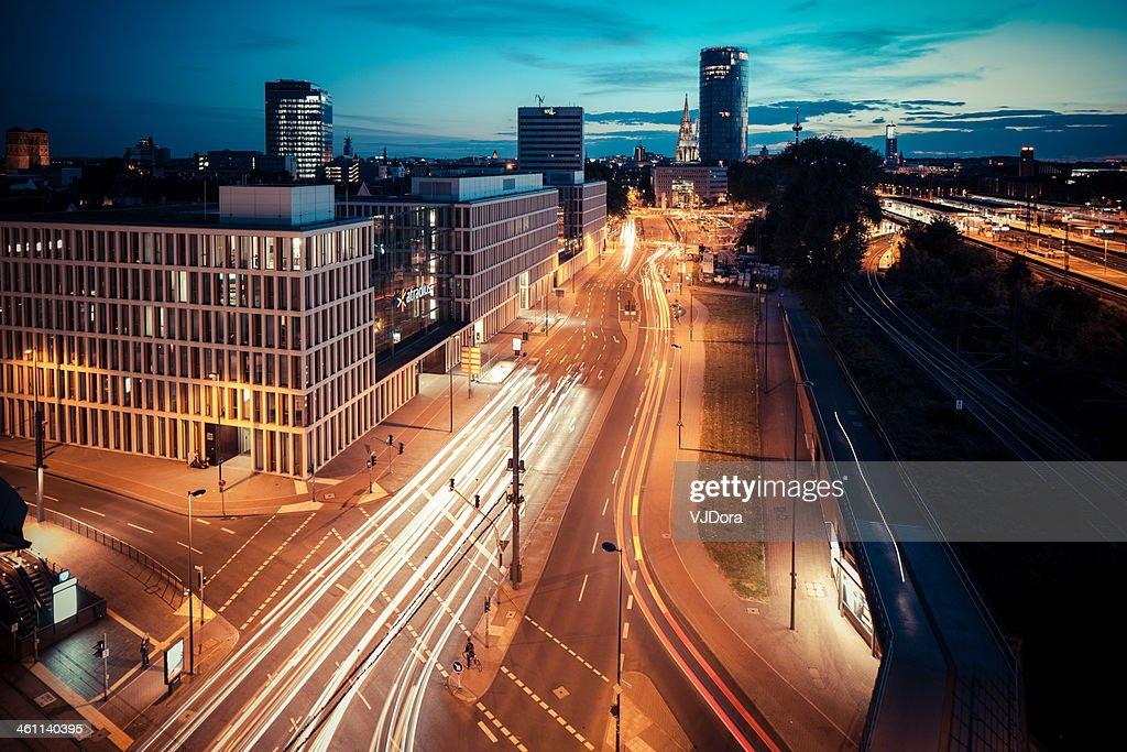 Cologne Deutz after sunset