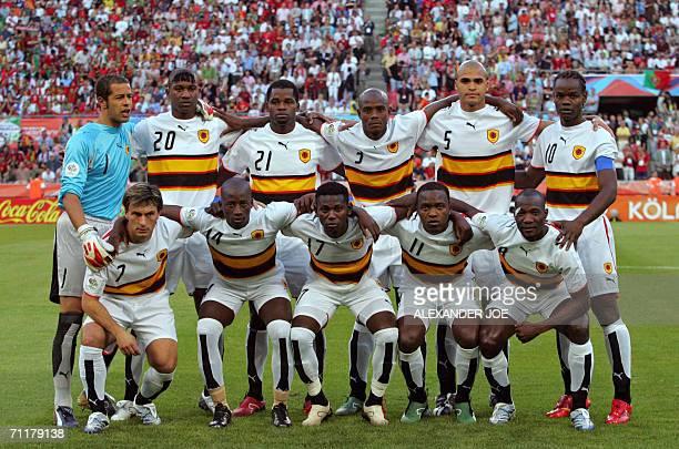 Angolan midfielders Figueiredo Mendonca Ze Kalanga Mateus and Andre goalkeeper Joao Ricardo defenders Loco Delgado Jamba and Kali and forward Akwa...