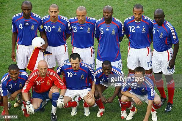 French midfielder Florent Malouda goalkeeper Fabien Barthez defender Willy Sagnol midfielder Claude Makelele forward Franck Ribery French midfielder...