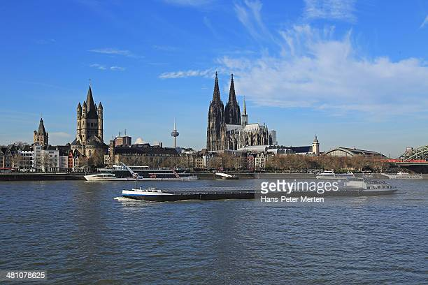 Cologne, Rhine and Cathedral, Germany