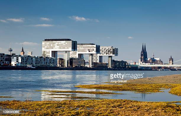 Cologne skyline and Rhine River