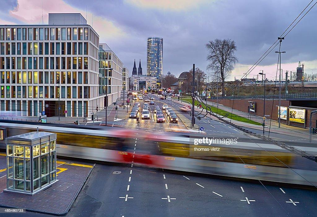 Cologne traffic in wintertime