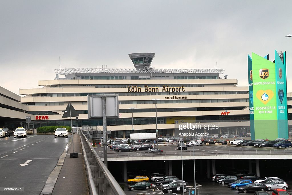 Cologne/Bonn Airport is seen on May 30, 2016 in Cologne, Germany. The federal police stopped all flights after a person allegedly got into the security area unchecked.