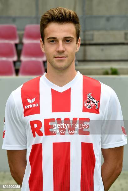 Cologne's midfielder Lukas Kluenter poses for a picture during the team presentation of German first division Bundesliga football club 1 FC Cologne...