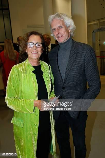 Colombe Pringle and Mathieu Carriere attend the 'Societe des Amis du Musee d'Art Moderne de la Ville de Paris' Dinner on October 17 2017 in Paris...