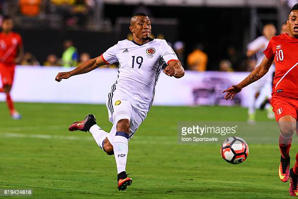 Colombia defender Farid Diaz during the second half of the 2016 Copa America Centinario Quarterfinal game between Columbia and Peru in penalty kicks...