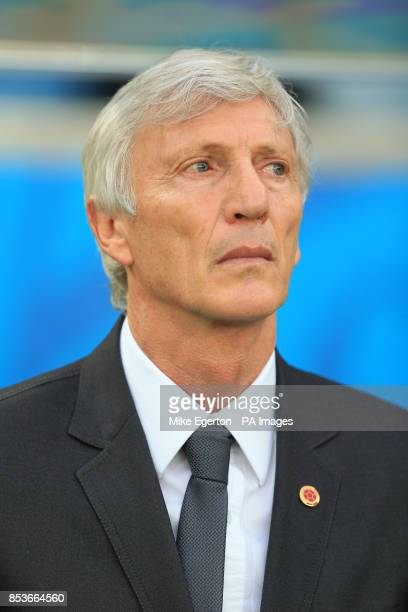 Colombia manager Jose Pekerman before the FIFA World Cup Round of 16 match at the Estadio do Maracana Rio de Janeiro Brazil