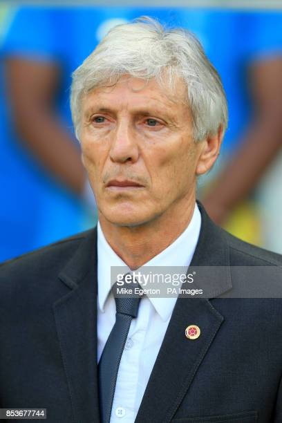 Colombia manager Jose Pekerman before the quarter final match at the Estadio Castelao Fortaleza