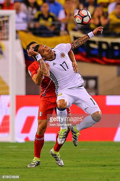 Colombia midfielder Dayro Moreno during the second half of the 2016 Copa America Centinario Quarterfinal game between Columbia and Peru in penalty...