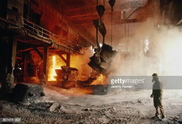 Colombia,Boyaca,Paz Del Rio,view inside steel foundry
