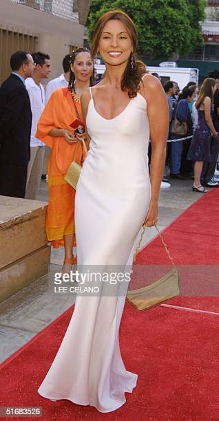 Colombian actress Amparo Grisales arrives for the Los Angeles International Film Festival in the Hollywood area of Los Angeles 19 July 2002 AFP AFP...