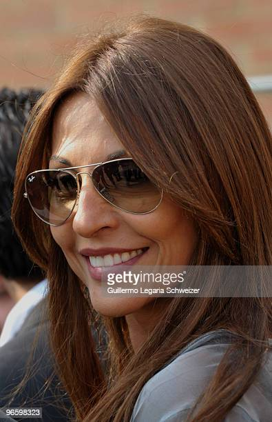Colombian actress and model Amparo Grisales attends the launching of City Theater as part of the IberoAmerican XII Festival of Theater on February 11...