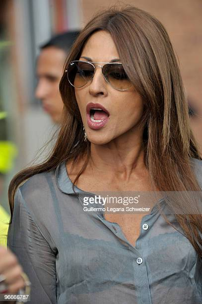 Colombian actress and model Amparo Grisales during the launching of 'City Theater' as part of the IberoAmerican XII Festival of Theater in Bogota...